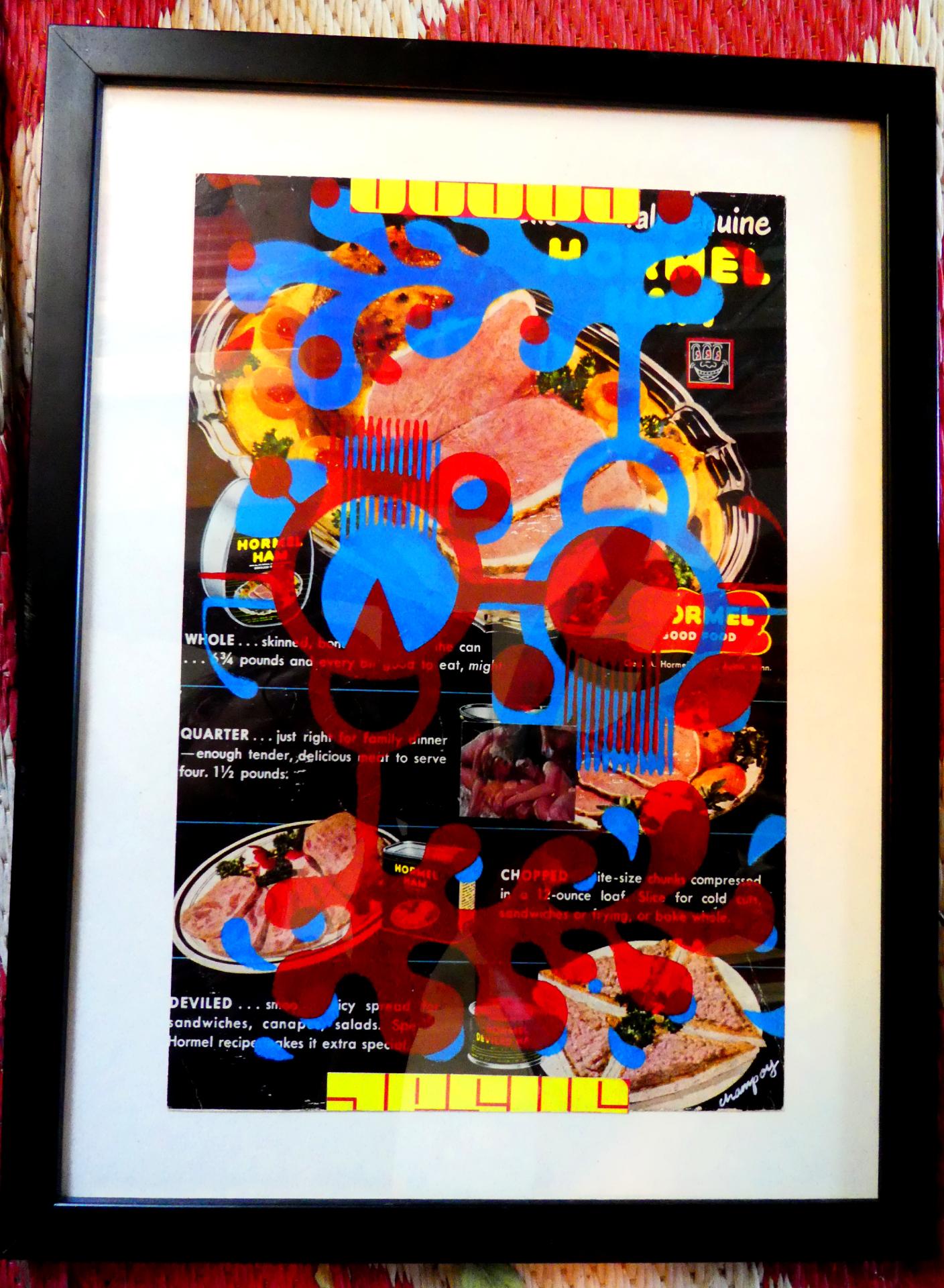 #eroticart #filipinoamericanartist #collage #spam #sexorgy #meat #printmaking #filiamart #losangelesartist #champoy #champchampchampoy