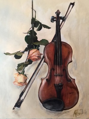 Violin & Rose- Private Collection