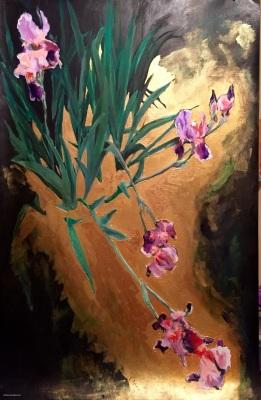Glamorous Purple Iris- Available
