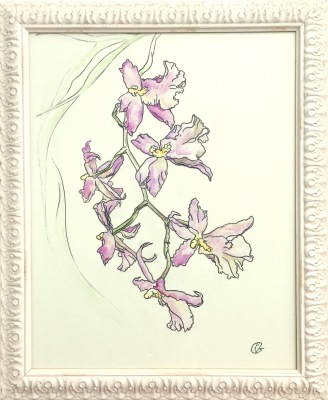 A Branch Of Tender Orchid- Available