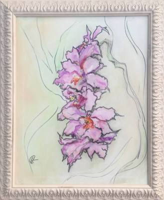 A Branch Of Purple Orchid- Available