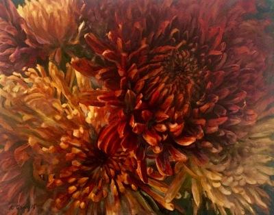 Golden Autumn Chrysanthemum- Available