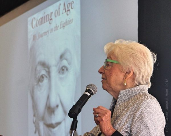 Guest Speaker, Madeleine Kunin shares her new book, Coming of Age: My Journey to the Eighties