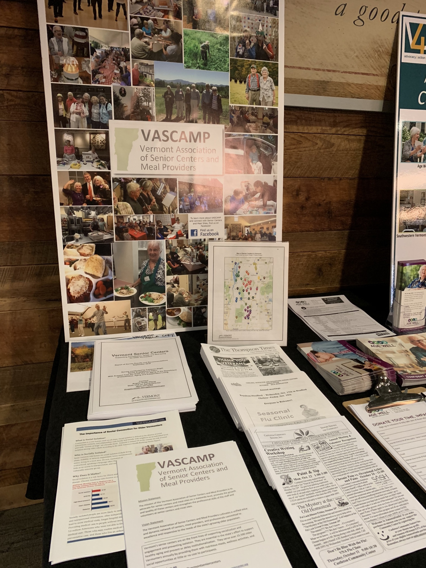 Vermont Association of Senior Centers and Meal Providers - Display