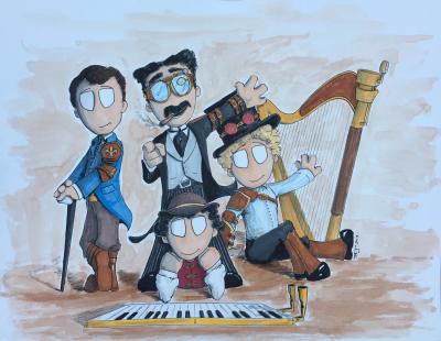 Steampunk Marx Bros