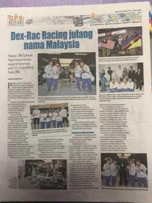 Dex-Rac in local newspaper