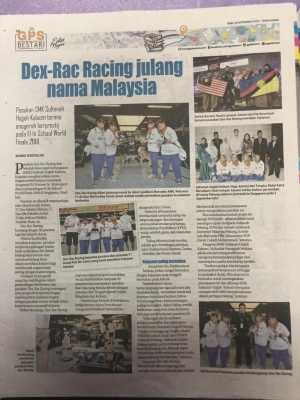 Dex-Rac in local newspaper