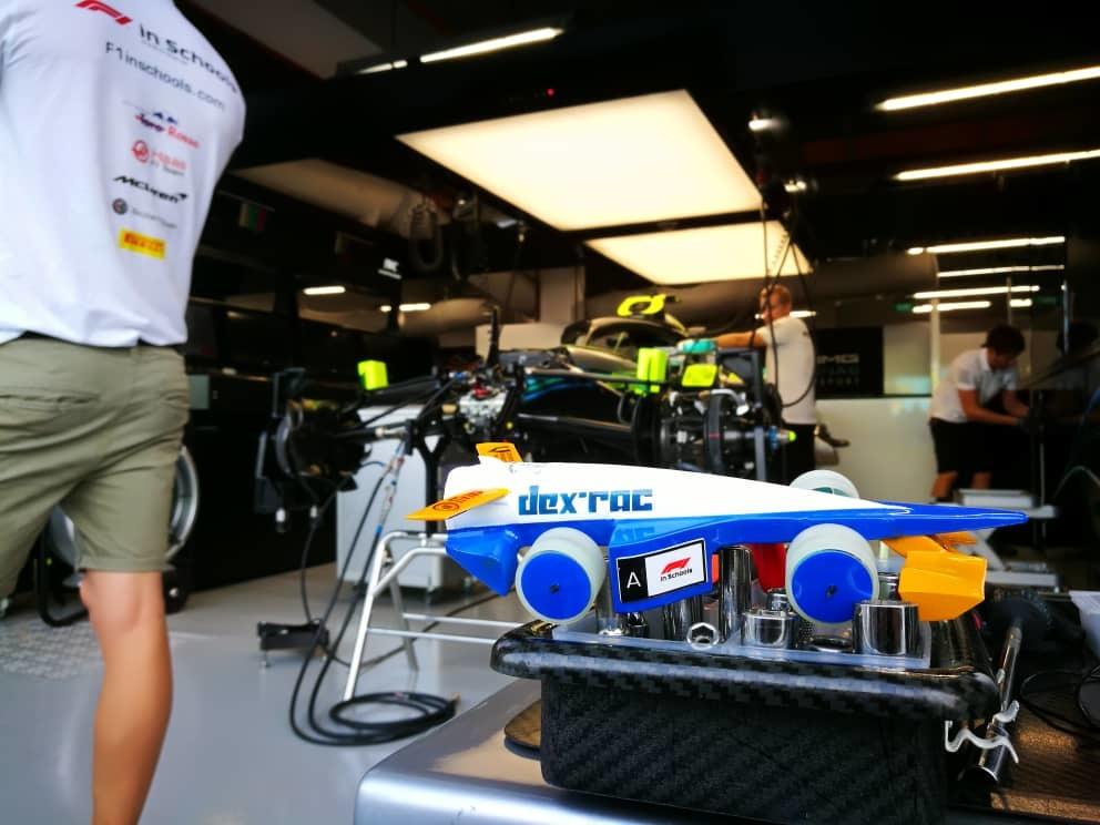 Dex-Rac's racing car