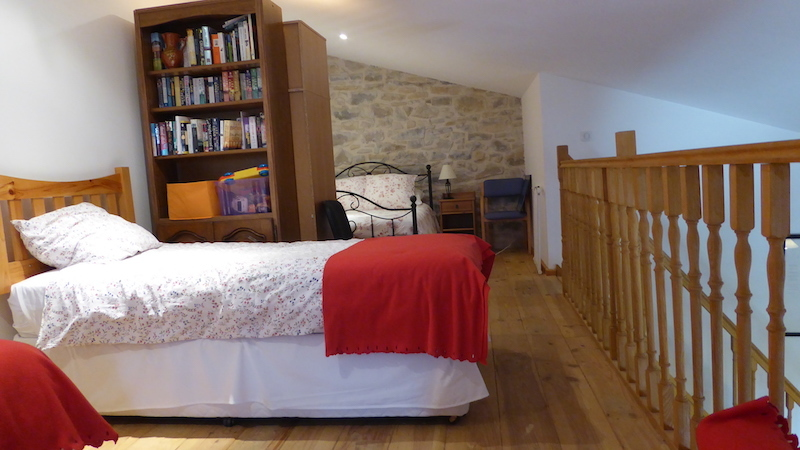 Mezzanine with one double bed & 2 singles