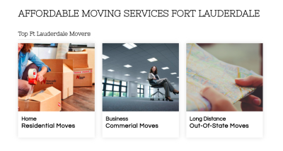 Moving Services Websites