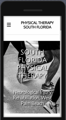 Mobile view of Physical Therapy website