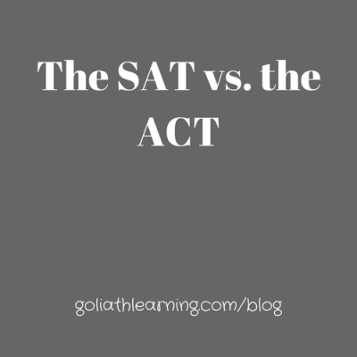 The SAT vs. the ACT:  Comparing the 2 College Admissions Tests