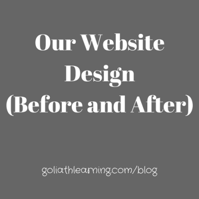 Our Website Design:  Before and After
