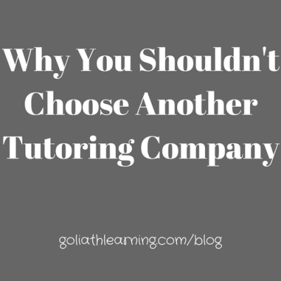 Why You Shouldn't Choose Another Tutoring Company