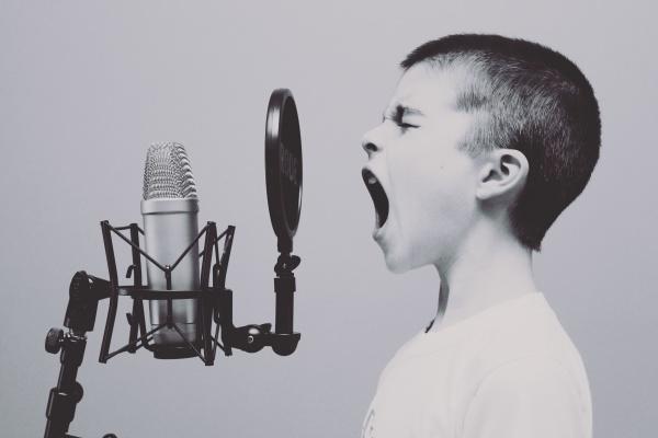 Child Singing Lesson