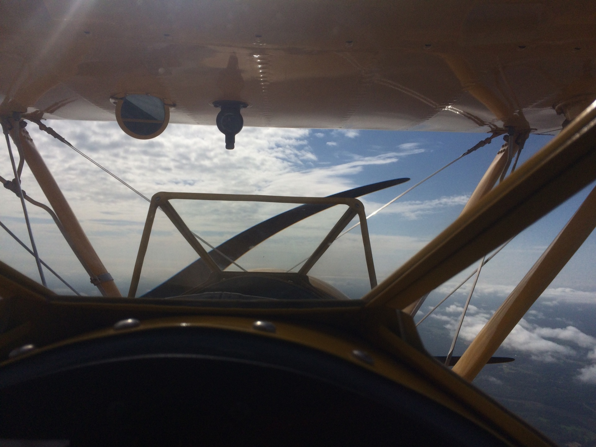 A view from the pilot seat