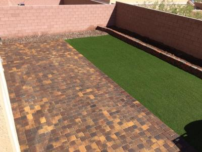 Pavers and Synthetic Turf