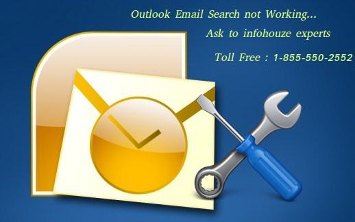 outlook email search not working