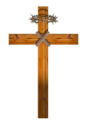 Image of a wooden Cross with nails