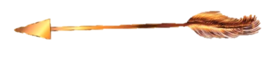 Golden Arrow facing to the left to represent God's Holy Word