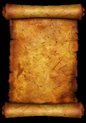 "Golden worn scrolls with ""Curses PtI"