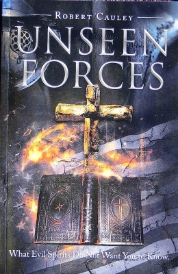 """Book Cover of my book """"Unseen Forces"""" used as a button, a great buy at $19.95"""