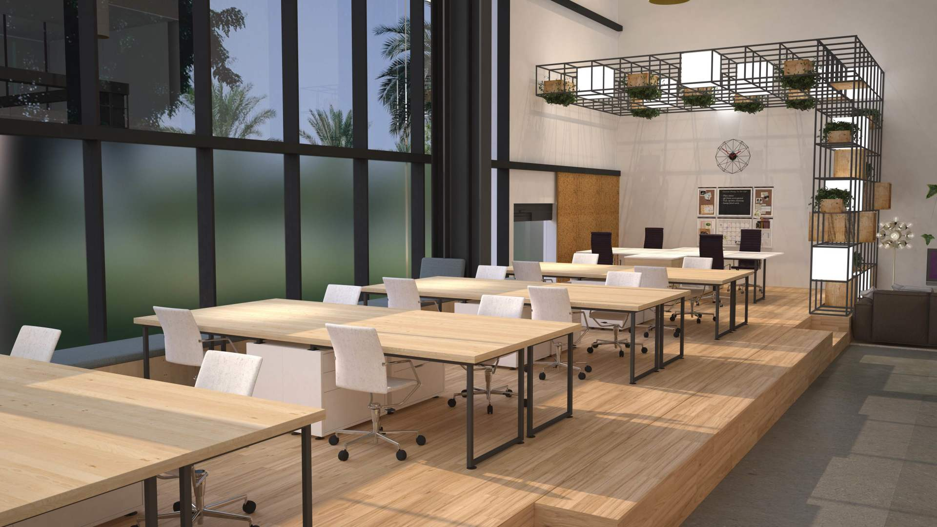 workstation design for office, minimal creative interior design for corporate spaces, inspiring place to work, fresh interior design for commercial interiors, Rosha Interiors and Linkviva office design, great place to work