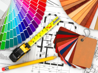 Top interior design firm in UAE Rosha Interiors Interior Design Drawings Materials and colors