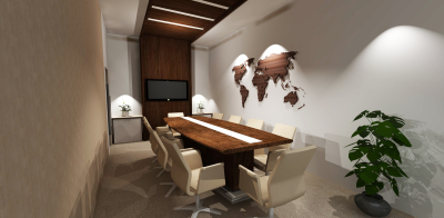 meeting room design corporate spaces wood finish tables and meeting room chairs, dark wood offices,
