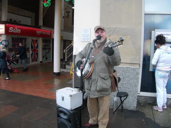 BUSKING FOR THE HOMELESS
