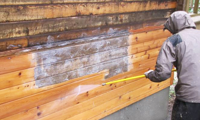 PRESSURE WASHING YOUR LOG HOME