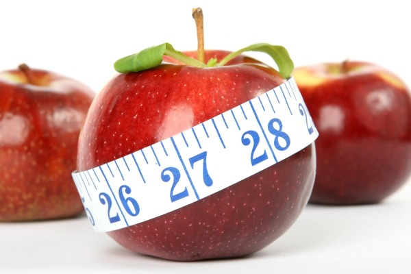apple weight loss inches