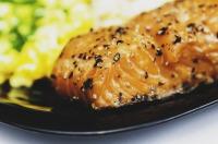 Baked salmon fresh