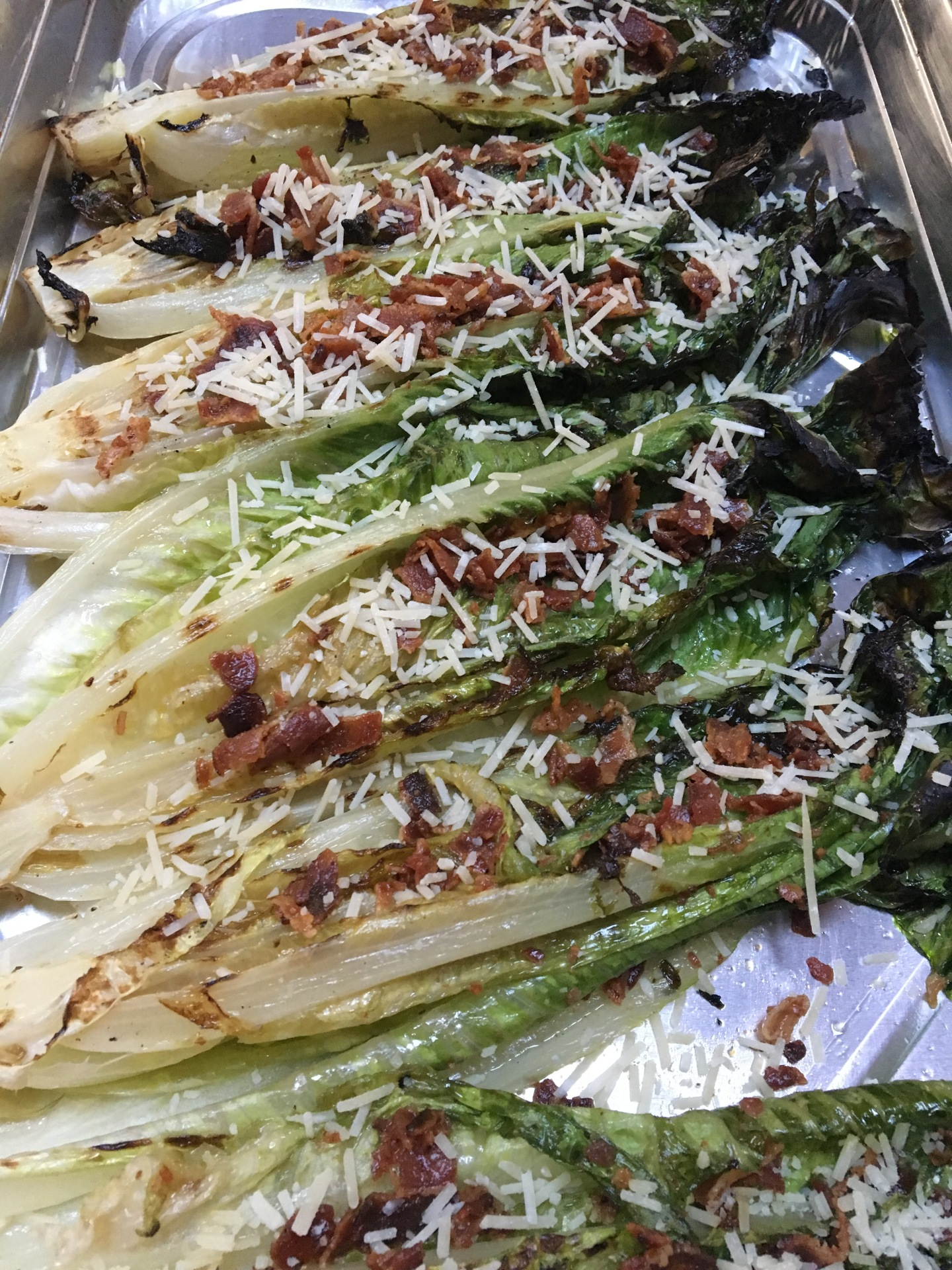 bbq grilled romaine lettuce