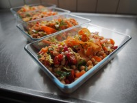 cauliflower chickpea kale salad