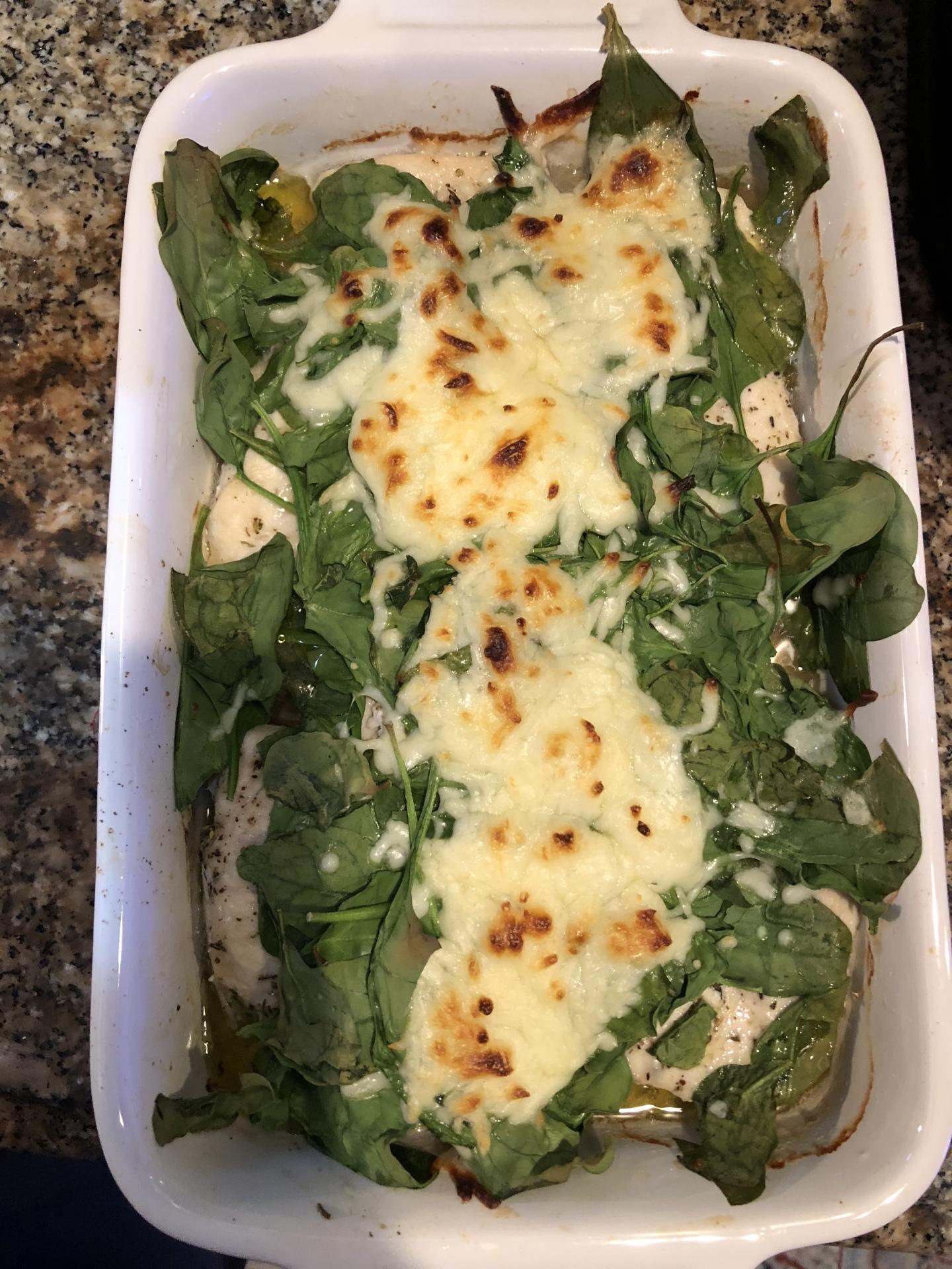 Spinach and Chicken Bake