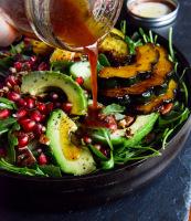 Fall arugula salad