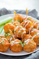 Healthy Spicy Buffalo Chicken Meatballs