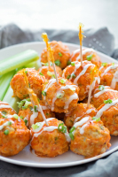 Healthy Spicy Buffalo Chicken Meatballs