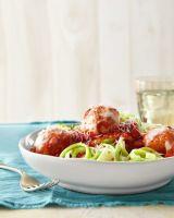 homemade turkey meatballs zucchini noodles sauce