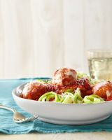 homemade turkey meatballs zucchini noodles sauce