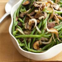 string beans mushrooms onions