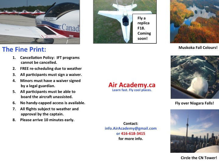 Air Academy Discount Cross Country Training, Discount Time Building, Commercial Pilot
