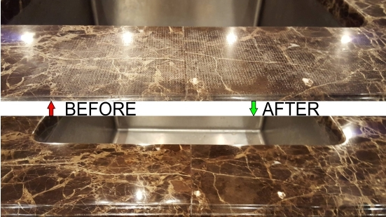 Marble repair etching mark removal