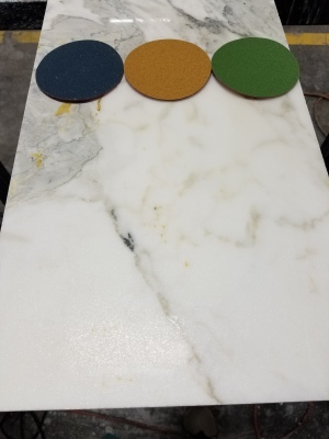 Marble polishing process