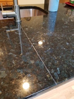 Seam repair on granite