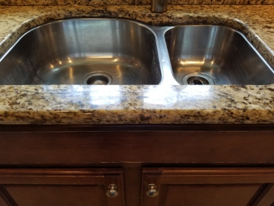 Granite sink crack repair