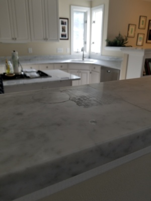 Marble etching removal process