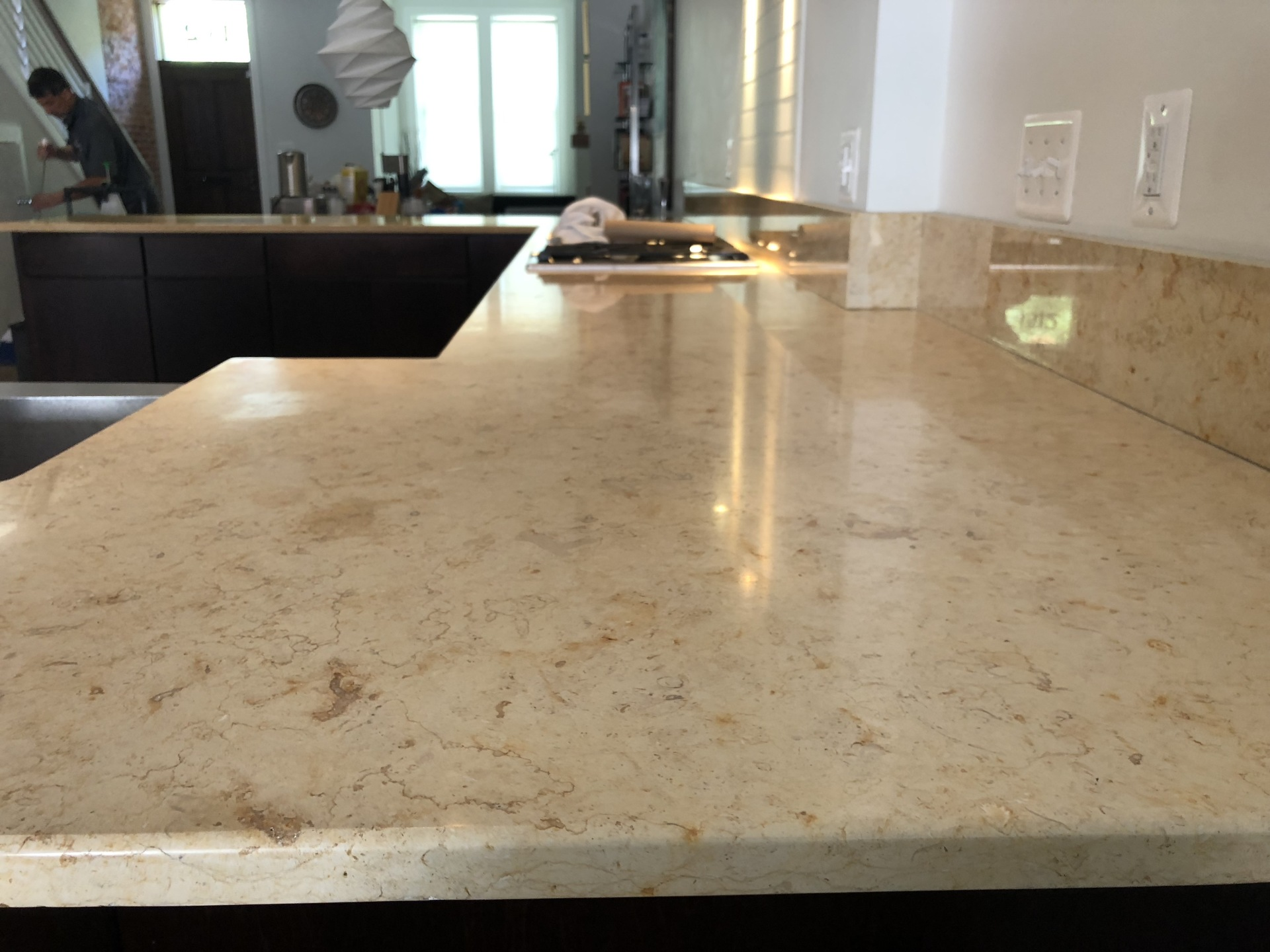 Travertine Surface After
