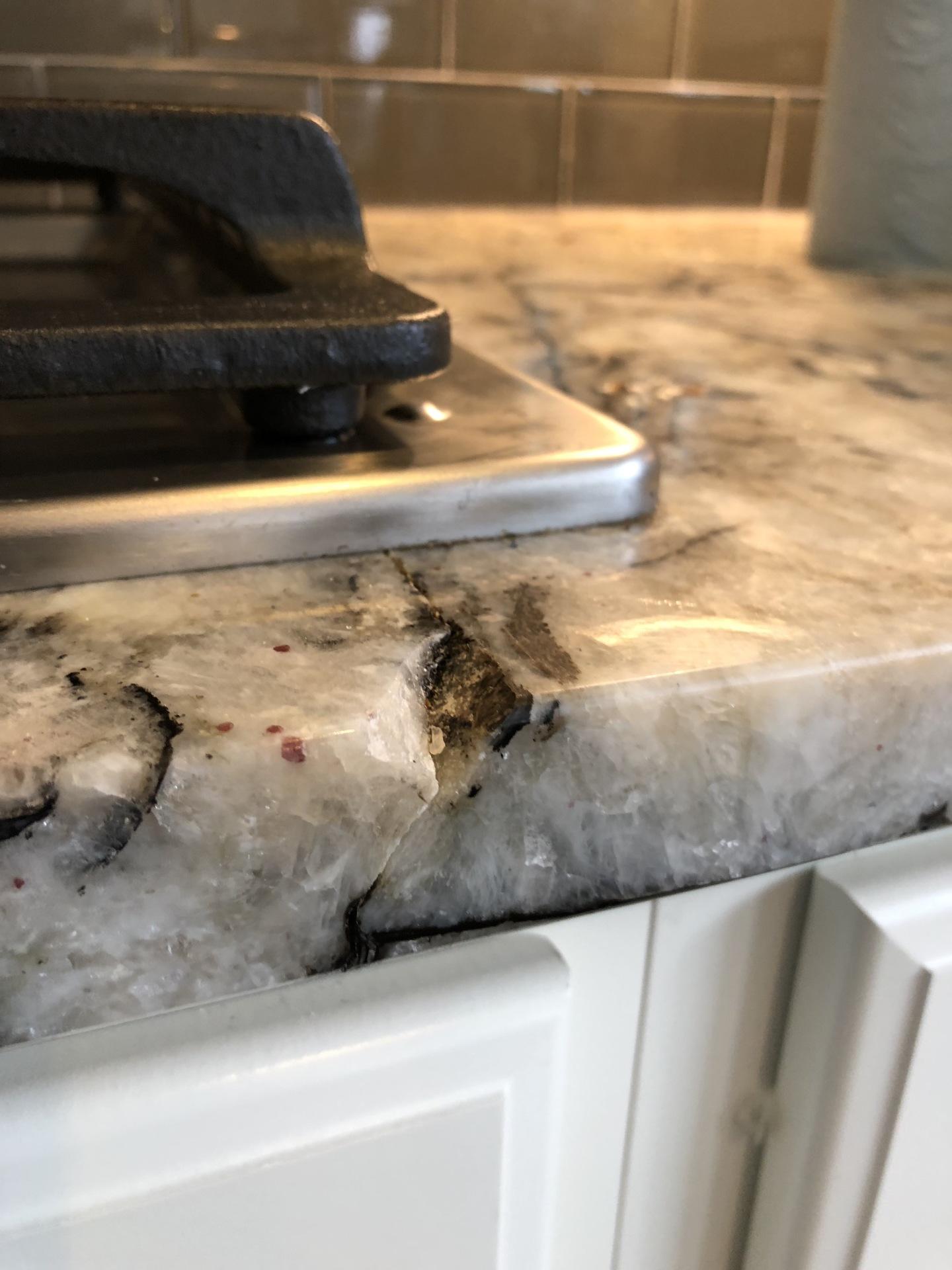 Granite Chip Before